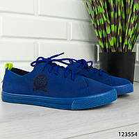 """Кроссовки женские, синие """"Bastery"""" текстильные, сникерсы женские, мокасины женские, повседневная обувь"""