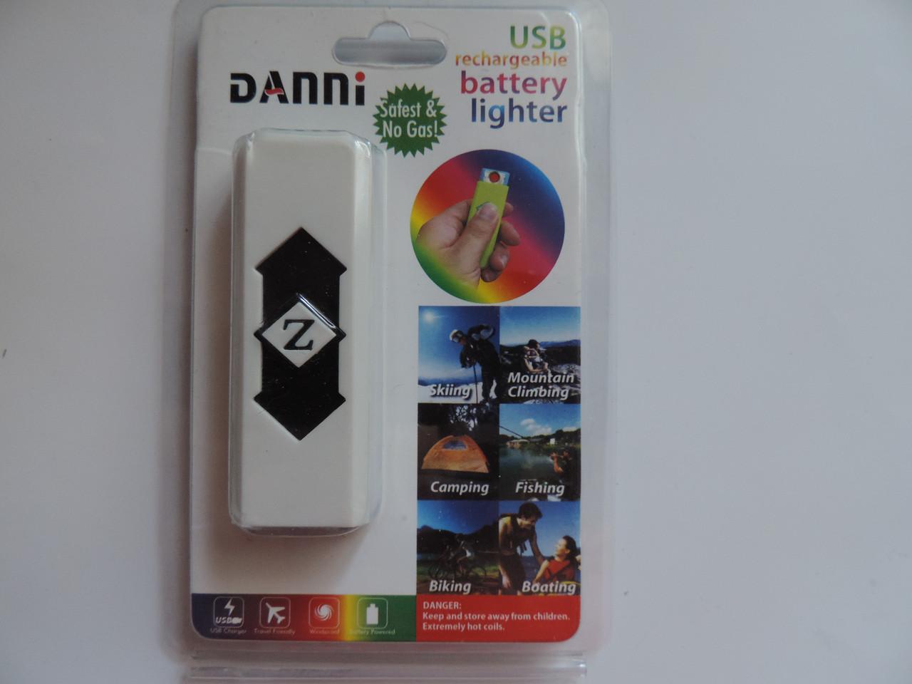 Электронная USB зажигалка с ультрафиолетовой лампочкой для проверки валют.