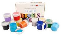 Набор акриловых красок ''Deсola'' по ткани 12 цв