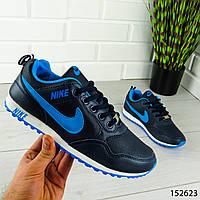 """Кроссовки женские, темно-синие в стиле """"Nike"""", сникерсы женские, мокасины женские, повседневная обувь"""