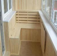 Внутреняя отделка  балкона под ключ