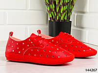 """Мокасины женские, красные """"Tusko"""" текстильные, слипоны женские, кроссовки женские, обувь женская повседневная"""