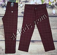 Яркие штаны,джинсы в клетку для мальчика 3-7 лет(бордо) розн пр.Турция, фото 1
