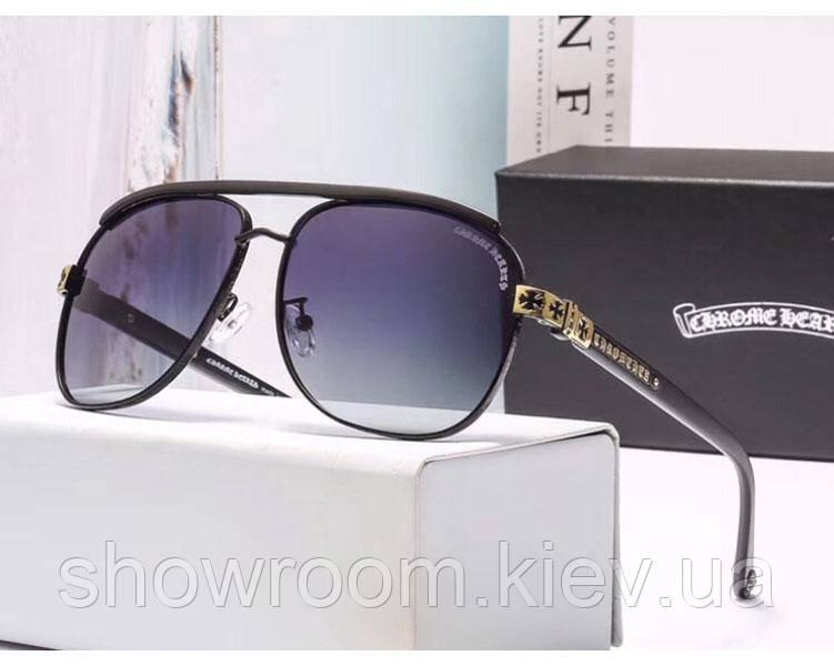 Солнцезащитные очки в стиле Chrome Hearts (3016) gold