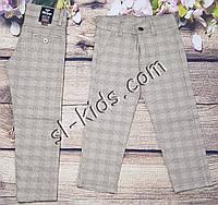 Яркие штаны,джинсы в клетку для мальчика 8-12 лет(бежевые) розн пр.Турция