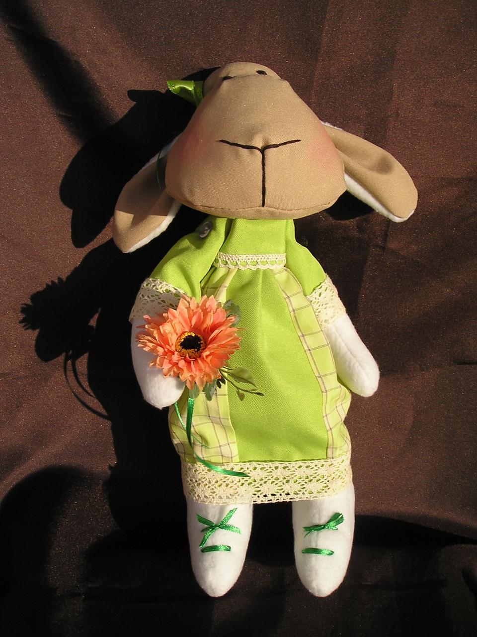 """Мягкая игрушка, овечка """"Дуня"""", ручной работы."""