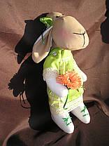 """Мягкая игрушка, овечка """"Дуня"""", ручной работы., фото 3"""