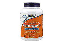 Рыбий жир NOW Omega 3 - 200 Softgels