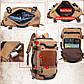 Стильный туристический рюкзак-сумка Kaka 0208, для города и путешествий, 40л, фото 4