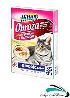 Ошейник для кошек от блох и клещей, 60 см, Хилтон