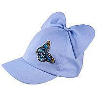 Бейсболка для девочки TuTu 87 арт.3-004597(52-56) UV+30 52-56, Голубой