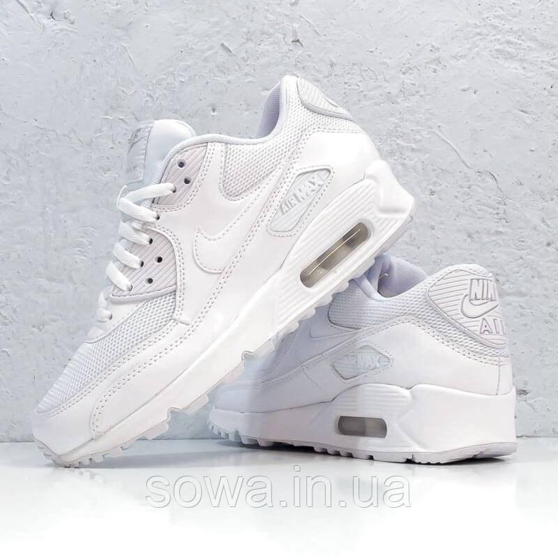 "✔️ Кроссовки Nike Air Max 90 ""Premium White/Metallic Silver"""