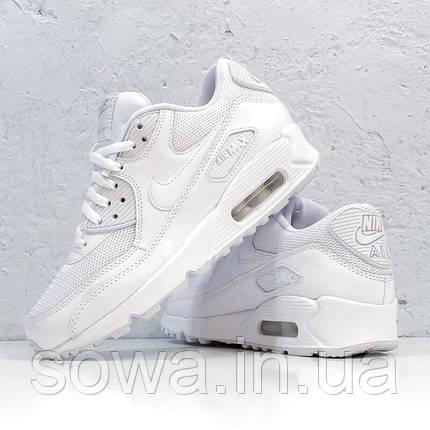"✔️ Кроссовки Nike Air Max 90 ""Premium White/Metallic Silver""  , фото 2"