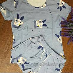 Костюм женский футболка и шорты зайцы 42-44 (лето)
