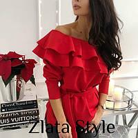 Блуза волан, фото 1