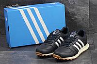 Мужские кроссовки в стиле Adidas Neo, тёмнo-cиние 41 (26,5 см)
