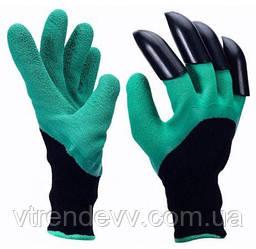 Перчатки для сада с когтями Garden Genie Gloves