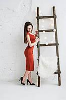 РАСПРОДАЖА! Приталенное платье с V-образным вырезом