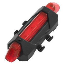 Фонарь велосипедный DC-918/MKL-780, ЗУ USB, встроенный аккумулятор Li-ion, комплект, красный