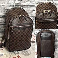 6b098fb963c2 Рюкзак ручная кладь Louis Vuitton большой люкс (реплика Луи Витон) Brown