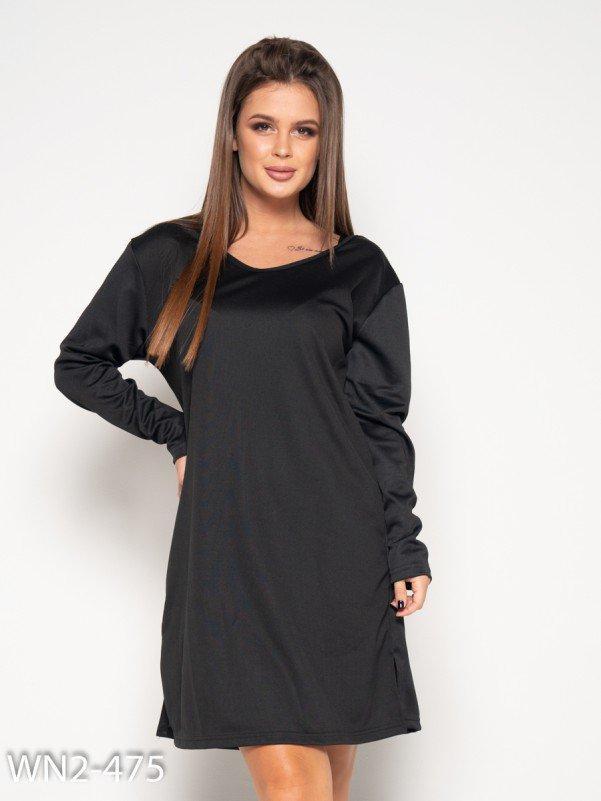 Черное спортивное платье с вырезом на спине