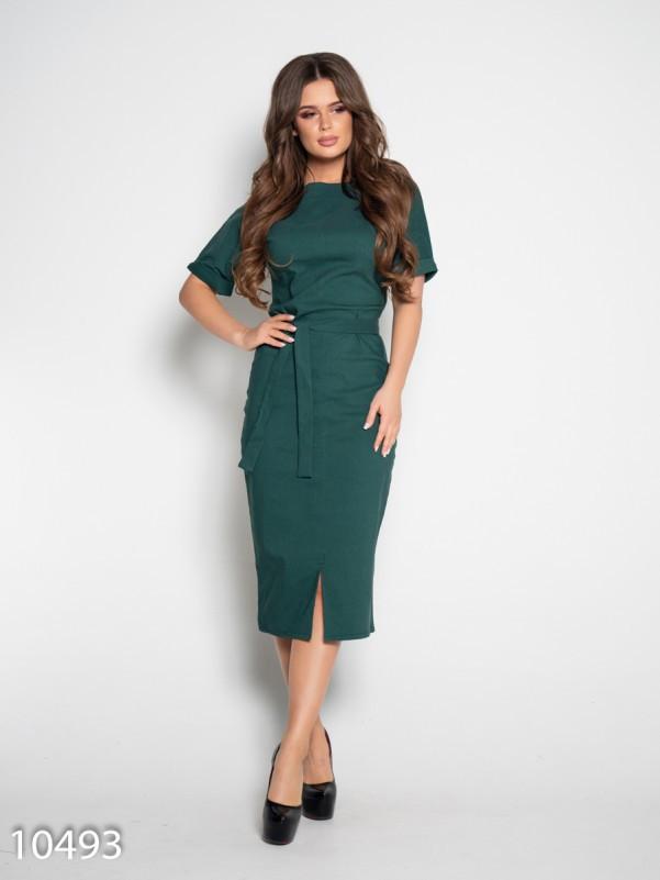778b338eebf Зеленое джинсовое платье с короткими рукавами купить в Украине