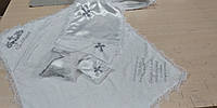 Махровая крыжма для крещения именная с вышивкой  80*90 см