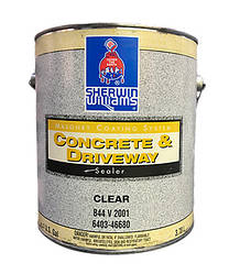 Лак по камню Concrete and Driveway Clear Sealer Sherwin-Williams, 3,78л матовый прозрачный