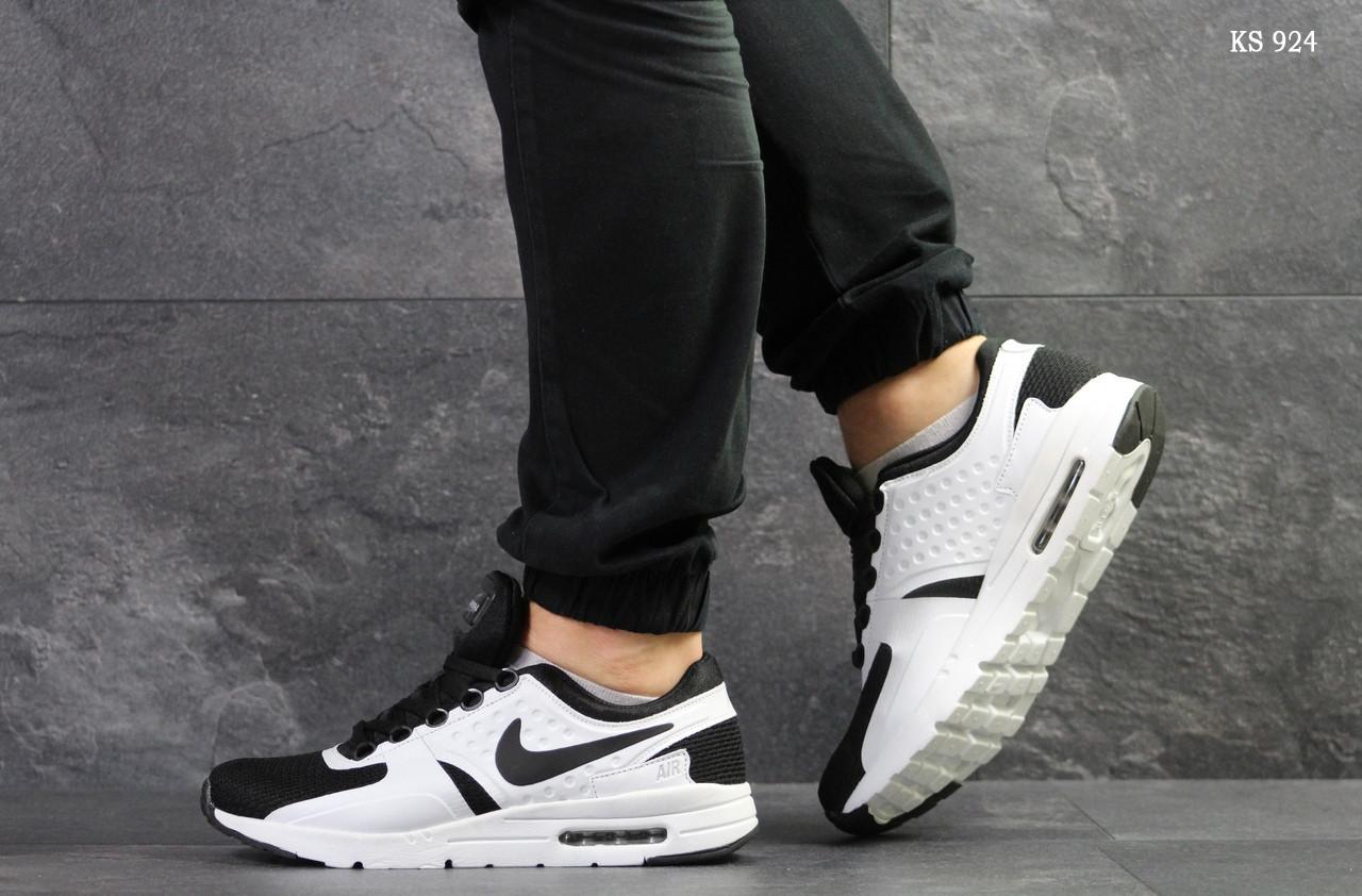 6faf346c7 Мужские кроссовки в стиле Nike Air Max Zero, белые с черным - Run в Киеве