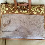 Покрывало травка | Махровый плед травка. Koloco (колоко)- длинный ворс. 220х240см. Цвет Капучино., фото 2