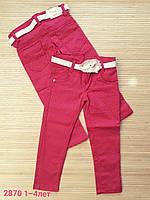 Джинсы  цветные в мелкий горошек для девочек 1-4 лет .Турция , фото 1