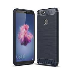 Чехол Carbon для Huawei P Smart / FIG-LX1 / FIG-LA1 бампер оригинальный Blue