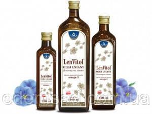 """Масло льняное с высоким содержанием Омега-3 LenVitol """"OleoFarm"""", 250мл"""