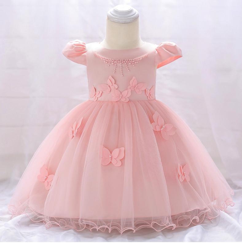 Ошатне дитяче плаття на дівчинку рожеве з метеликами 9 міс