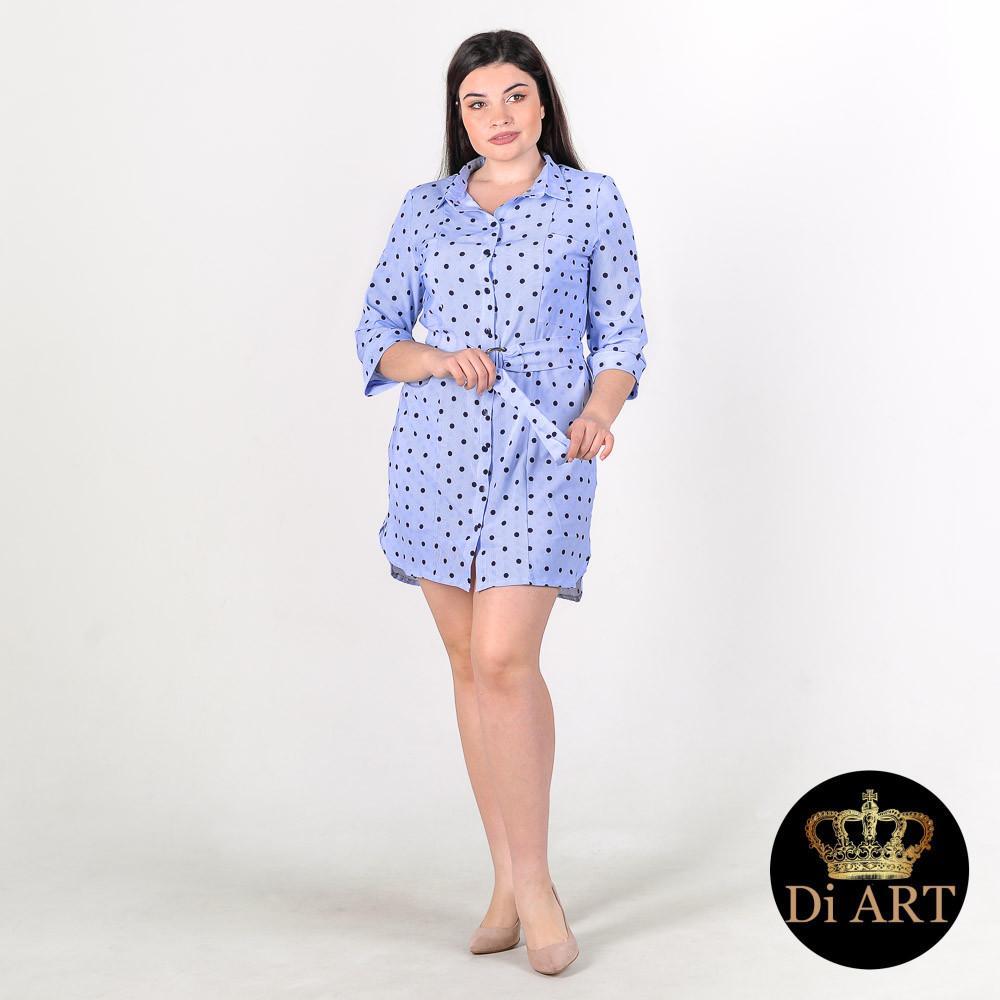 0f058ae4d23 Платье - Рубашка в Горох на Пуговицах
