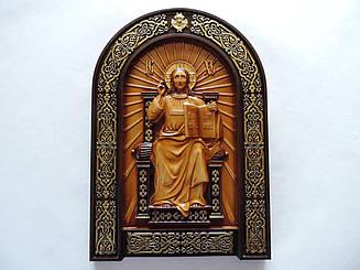 """Дерев'яна ікона """"Спас на престолі"""" 240х170мм"""