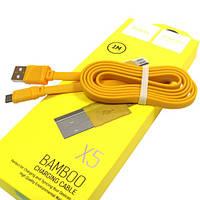 Кабель HOCO X5 Micro 1м Bamboo, фото 1