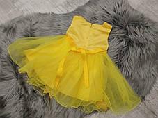 Нарядное детское платье на девочку желтое Королева 9 мес -2 года, фото 3