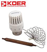 Термостатическая головка М30х1,5 KOER KR.1333 30...70 °С с выносным датчиком