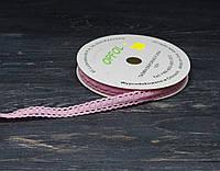 Кружево тонкое розовое 1,6см*90см, фото 1