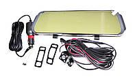 Автомобильный регистратор-зеркало DVR D038 + камера заднего вида, фото 4