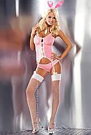 Сексуальный костюм розового кролика BUNNY SUIT Obsessive (Обсессив)
