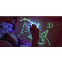 Доска для рисования светом A3 (33*45) + трафарет буквы и маркер Рисование в темноте, фото 1