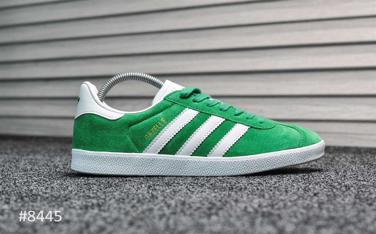 85474ed3 Мужские кроссовки в стиле Adidas Gazelle, зеленые. Код товара: Т - 8445 -