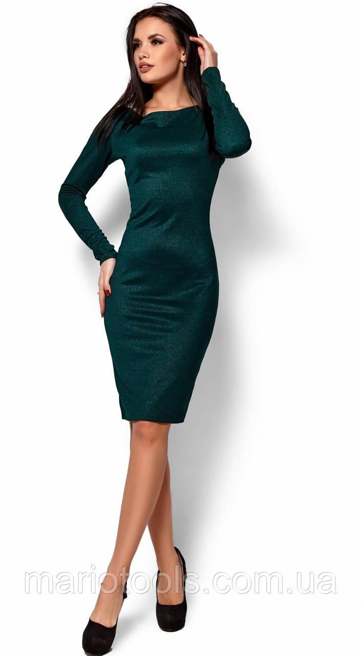 РАСПРОДАЖА! Платье из эластичного фактурного трикотажа