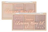 Набор пудровых Хайлайтеров Ruby Rose Glowing Mini Kit №4