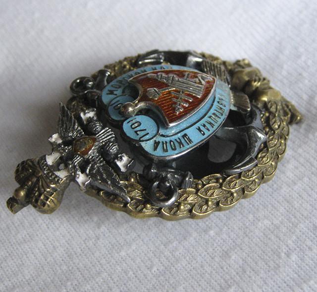 Знак об окончании Морского кадетского корпуса в Санкт-Петербурге, Копия,медали царской россии