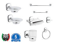 Набор аксессуаров для ванной комнаты REMER SU SET 8P