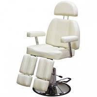 Педикюрное кресло для клиента на гидравлике с раздельной подножкой  227В-2 белое