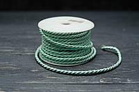 Шнурок шелковый 3-4 мм нежно-мятного цвета, фото 1